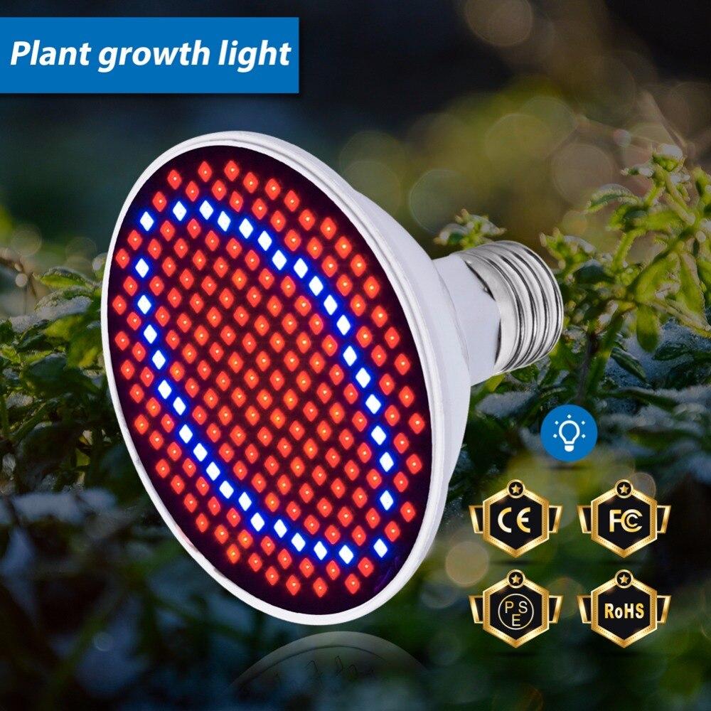 Plant Led Grow Light E27 AC85-265V 60 126 200Leds Hydroponic 220V LED Plant Indor Grow Bulb LED Growth Lamp 110V Red/Blue