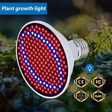 Plant Led Grow Light E27 AC85-265V 60 126 200Leds Hydroponic 220V LED Plant Indor Grow Bulb LED Growth Lamp 110V Red/Blue(China)