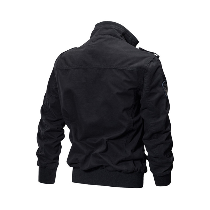 HTB1CmYugAUmBKNjSZFOq6yb2XXaF MORUANCLE Mens Casual Cargo Jackets Military Style Flight Bomber Jacket And Coat For Man Outerwear Plus Size M-5XL Stand Collar