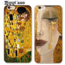 Clear TPU Phone Case Kiss by Gustav Klimt Cover for iPhone X 7 8 6 6s Plus SE 5 5s For samsung galaxy S6 S7 edge S8 Plus cases(China)