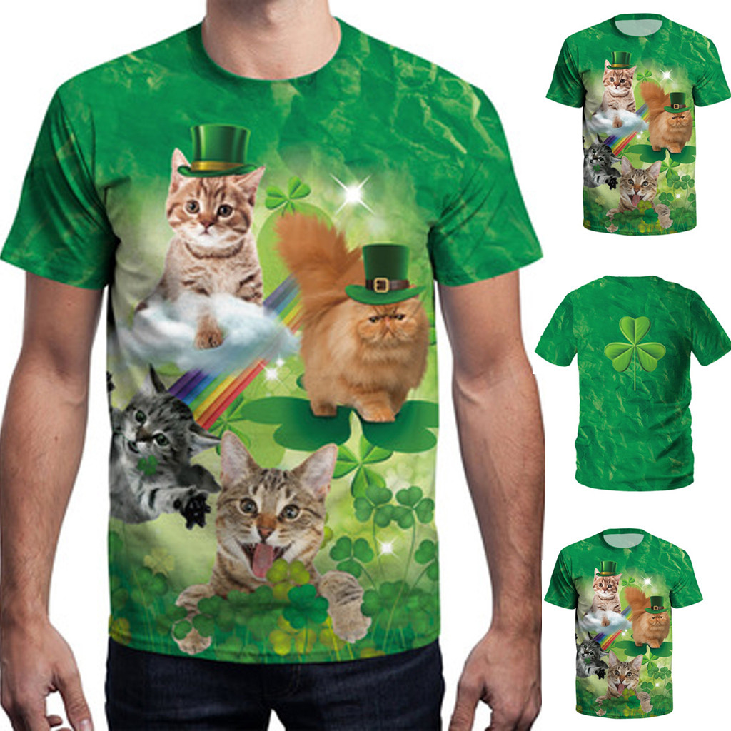 And Great Variety Of Designs And Colo 100% Quality Harajuku T-shirt Mens 3d Print Casual St Patricks Day Short-sleeved O-neck Shirt Top Blouse Marshmello Camiseta Masculina #c Famous For High Quality Raw Materials Full Range Of Specifications And Sizes