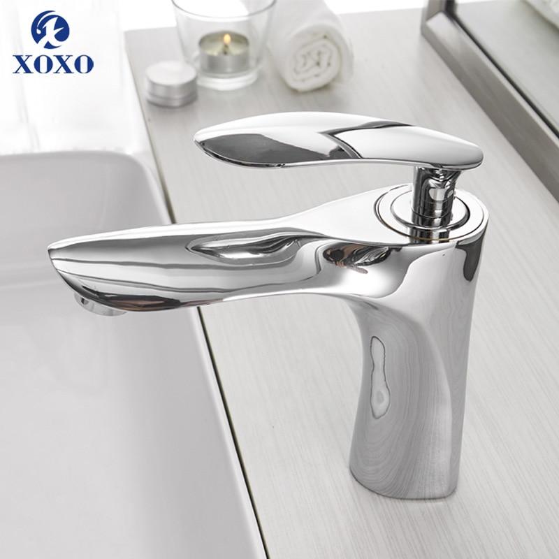 XOXO Basin Faucets Hot and Cold Bathroom Faucet Water Basin Mixer Tap Chrome Single Handle Basin