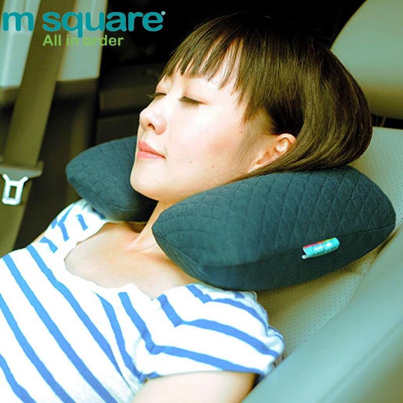 M Square Reisezubehör für Reisekissen U-Form aufblasbare Kissen Nackenkissen Massagegerät Kopfstütze