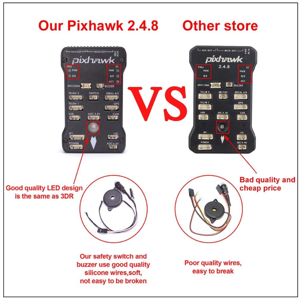 US $71 99 |Aliexpress com : Buy Pixhawk PX4 Autopilot 2 4 8 32Bit Flight  Controller Safety Switch Buzzer + M8N GPS w/ Compass 8N GPS Holder I2C RGB