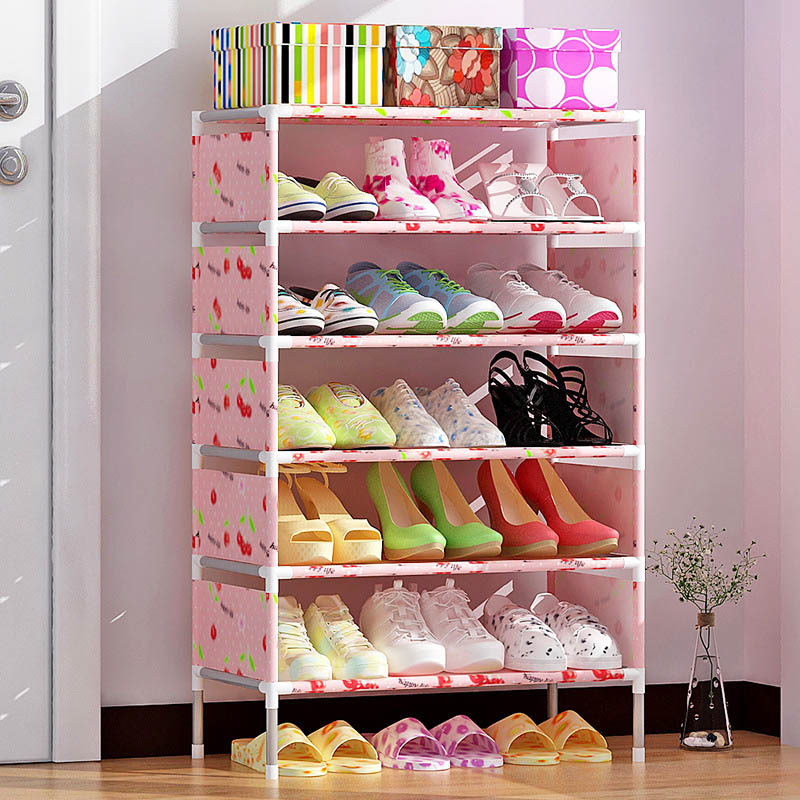 7 Layer Shoe Rack Nonwovens Easy to install Multi Layer Shoe cabinet Shelf Storage Organizer Stand Holder Space Saving multi layer shoe rack nonwovens steel pipe easy to install home shoe cabinet shelf storage organizer stand holder space saving