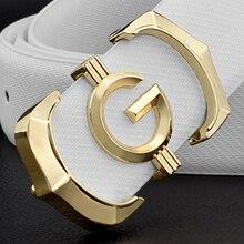 Designer gürtel männer hohe qualität aus echtem leder mode g gürtel männer luxus marke Rindsleder beiläufige weiß Taille Strap c