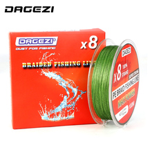 DAGEZI 8 strand 100m 30-80LB Multifilament Fishing Lines Super Strong PE braided fishing line leader line 6 colors