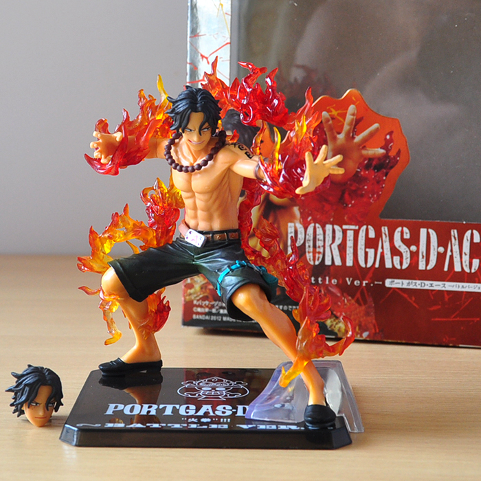 14cm One Piece ZERO Portgas D Ace Battle Ver. Fleam PVC Action Figure Model Toys with Original Box(China)