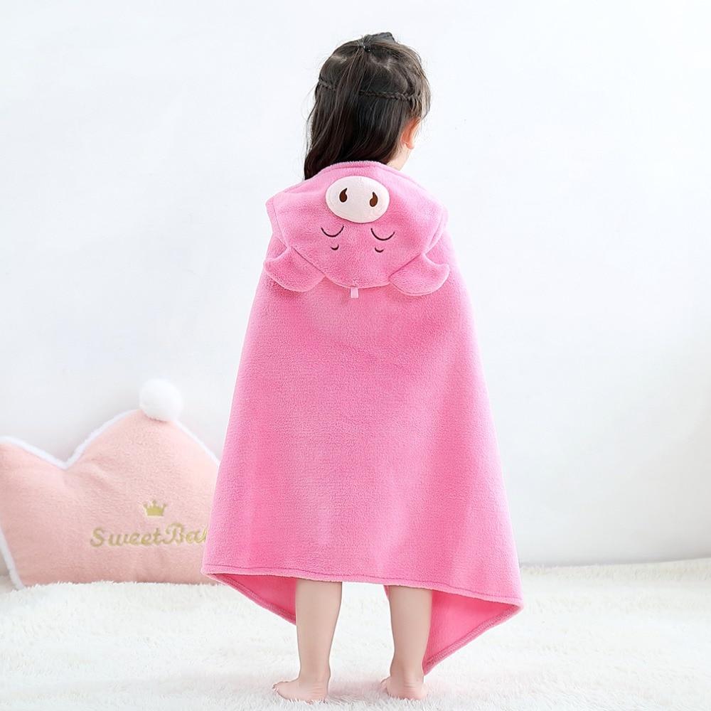 Baby Animal Cartoon Hooded Towel Beach Bath Robes Soft Children Poncho Towels Bathing Suit Towel For Boys Girls Kids Bathrobe 9