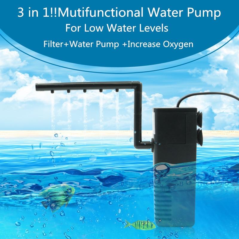 Mini 3 in 1 Aquarium Filter 5w 8w Multi-function Fish Tank Aquarium Internal Purifier Submersible Pump Spray Waterfall FA015
