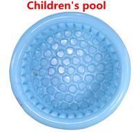 2018 130cm high quality three ring PVC children's inflatable pool baby pool swimming fishing pool marine ball pool