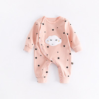 Peninsula Baby New Style Autumn Winter Thick Cotton Carton Sky Clouds Baby Climbing Clothing Fashion Cute