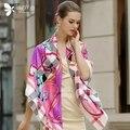 130*130 cm 2017 otoño invierno a cuadros bufanda de lujo de la marca mujeres de la bufanda a cuadros de moda Bufanda de Seda Del Mantón de Seda de la tela cruzada pashmina