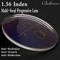 1 56 Index Aspheric Optical Multi Focal Progressive Prescription Lens Myopia Lens Glasses Anti Radiation Reflection