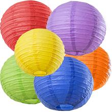 METABLE 6 Count 12 INCH Rainbow Party Decorations, Fiesta Party Supplies Paper Lanterns, brown benjamin thompson count rumford paper