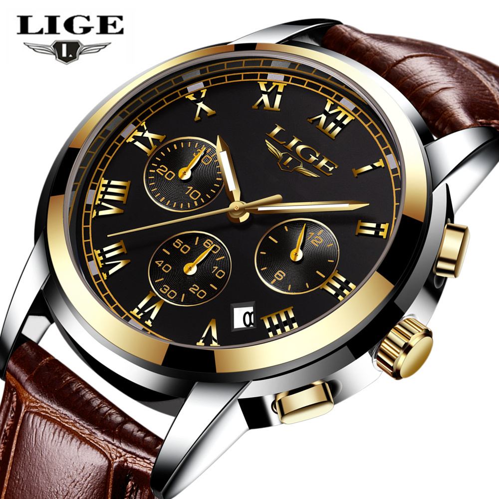 LIGE Mens Watches Top Brand Luxury Male Military Sport Luminous Watch men Business quartz-watch Male Clock Man Relogio Masculino break top brand luxury watch men casual sport clock military army relogio masculino mens male casual quartz watches business