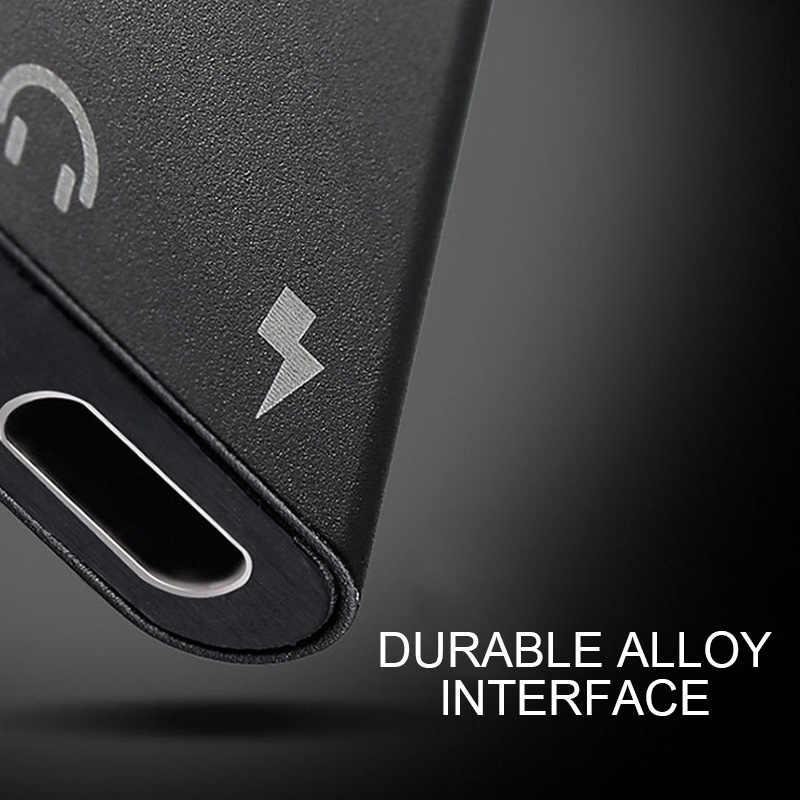 2 em 1-Tipo C Macho Para Jack de 3.5mm AUX Áudio Fone de ouvido Cabo Adaptador Universal Adaptador de Carga Rápida para Huawei Companheiro P20 20 Pro
