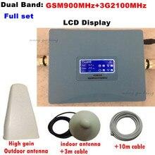 Pour La Russie LCD affichage double bandes 3G W-CDMA 2100 MHz GSM 900 Mhz Téléphone portable Signal Booster GSM 2G UMTS Répéteur de Signal amplificateur