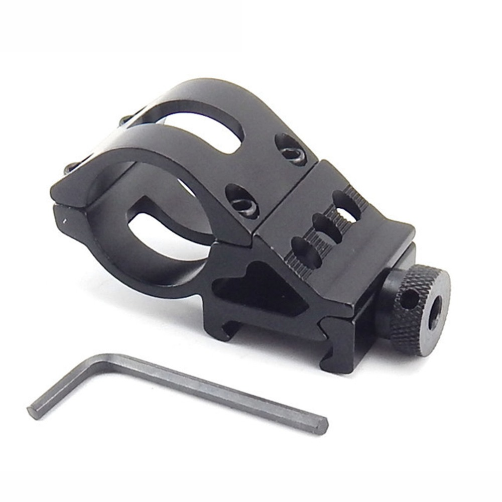 Promotions Hunting Rifle Optical Sight Bracket Holder Support Scope Mount Ring T2008 Flashlight Clip 25.4mm Ring Weaver Rail