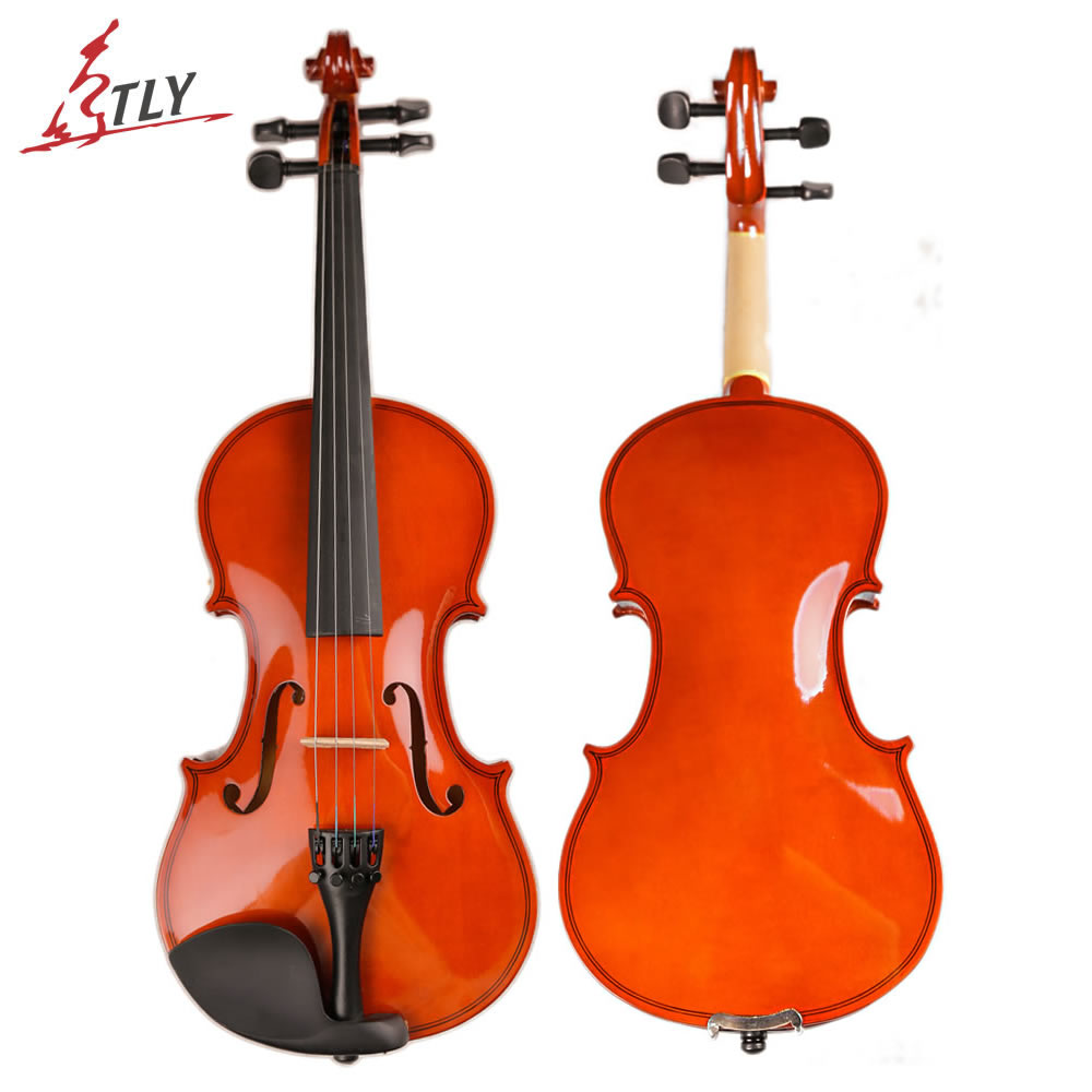 TONGLING High Quality Students Beginner Violin Solid Wood Violino Fiddle with Case Bow Strings Full Size handmade new solid maple wood brown acoustic violin violino 4 4 electric violin case bow included