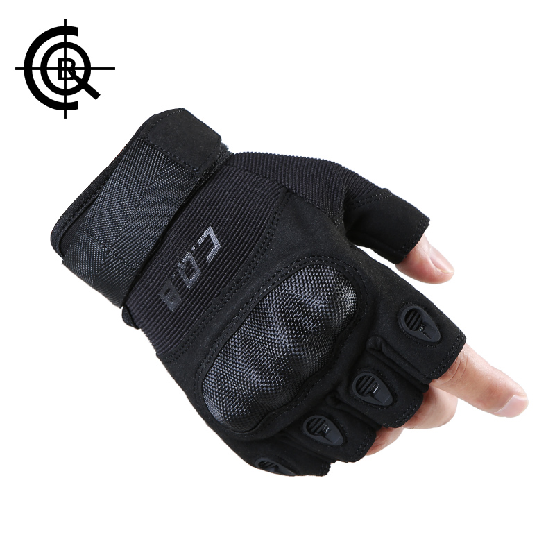 CQB Cycling Gloves Outdoor Riding Sports Camping Wear Non-slip Men Gloves Tactical Equipment Half Finger Hiking Gloves ST0053