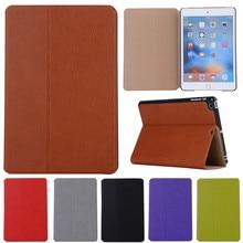 Libro funda de piel para ipad mini 1 2 3 tablets accesorios negocio de la cubierta fundas para apple ipad mini2 mini 3 soporte de la manera Retro