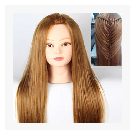 Free Shipping!! New Fashionable Head Mannequin Hair Training Head Model With Hair For Hairdresser On Sale