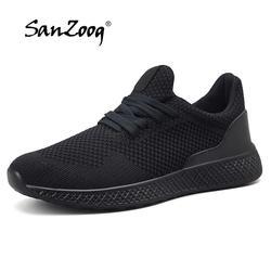 2019 модные легкие удобные мужские кроссовки черный серый красный дышащая повседневная обувь Homme Весна Осень Спортивная обувь для мужчин