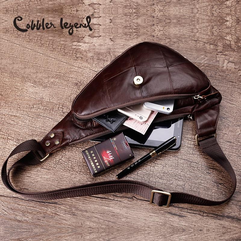 Cobbler Legend Genuine Leather Casual Cowhide Chest Pack Men's Bags