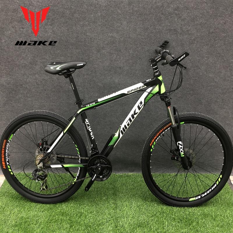 "Top Mountain Bike MAKE 26"" 24 Speed Disc Brakes Aluminium Frame 2"