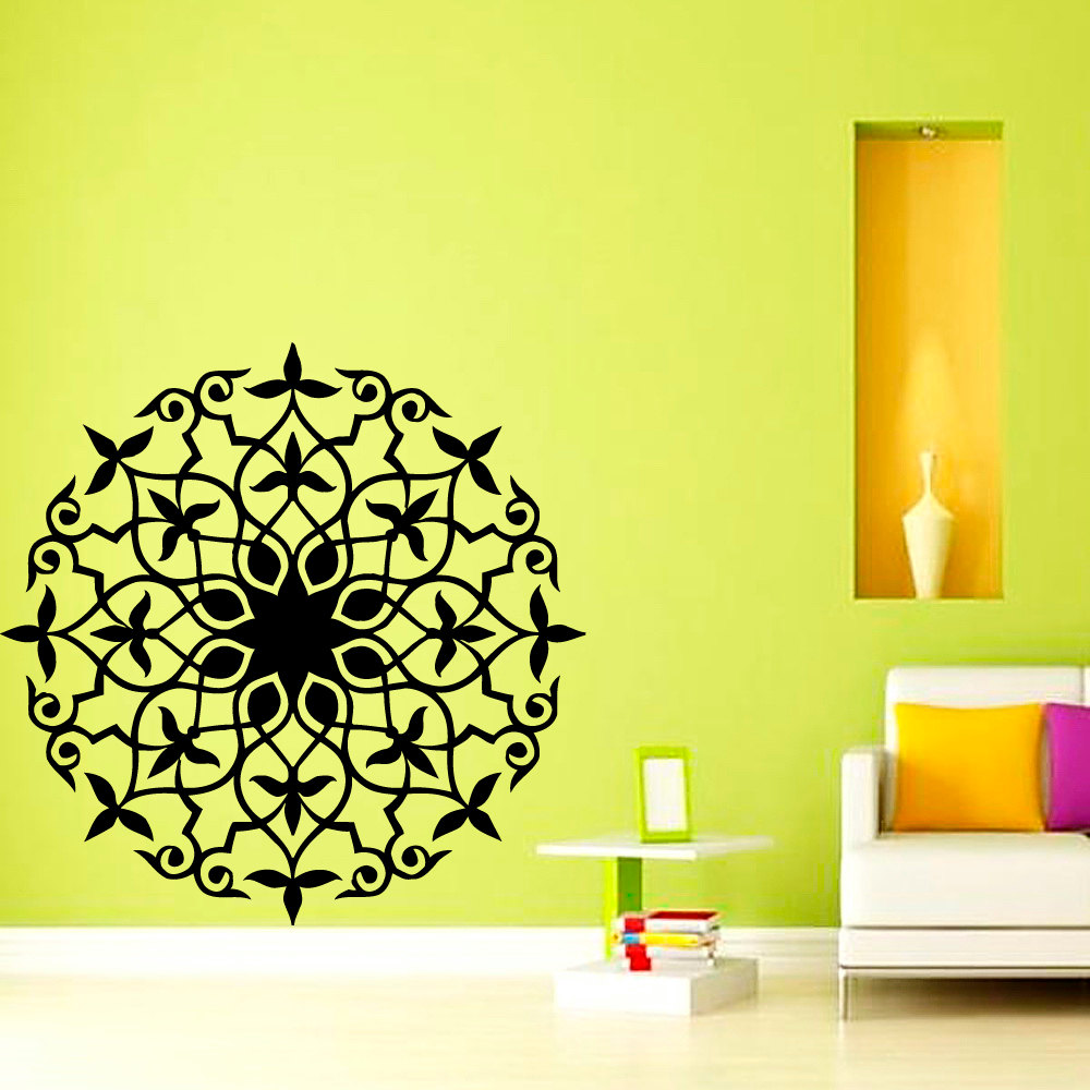 India Mandala Wall Sticker Vinyl Self Adhesive Home Decor Living ...