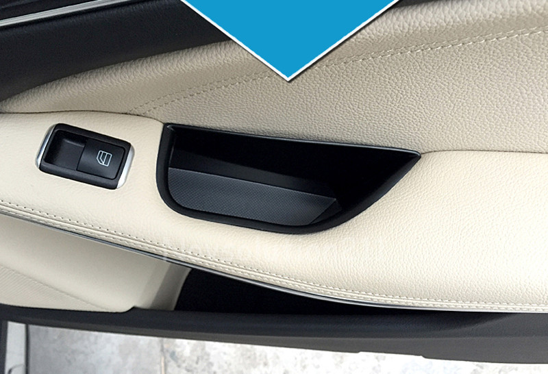 Car Organizer For <font><b>Mercedes</b></font> Benz A Class <font><b>W176</b></font> 2012 2013 - 2016 <font><b>Interior</b></font> Rear Door Handle Armrest Storage Box Container Holder image