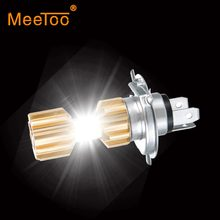 H4 Led Motorcycle Headlight 12V HS1 LED H4 Led Moto Bulbs 3400lm Super Bright White Motorbike Head Lamp Scooter Accessories Moto(China)