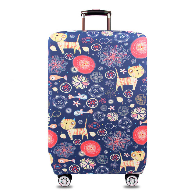 Travel Luggage Protective Cover Stretch Fabric Dust Pouch