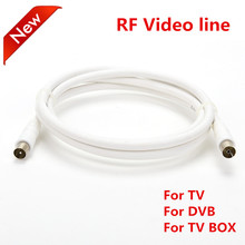 Vmade 1m white/black RF line coaxial coax cable assembly video IEC DVB-TV male to female Audio Extension Cord connector adapter