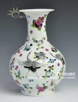 Free Shipping Special Jingdezhen craft Ceramic Porcelain Luminous Crane vases