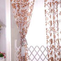 New European Style Tulle Fabrics Organza Sheer Panel Window Jacquard Design Home Decoration Modern Curtain