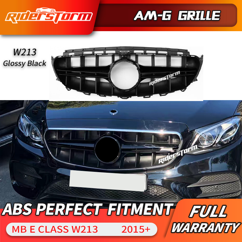w213 gts gtr style front bumper amg grill silver black. Black Bedroom Furniture Sets. Home Design Ideas