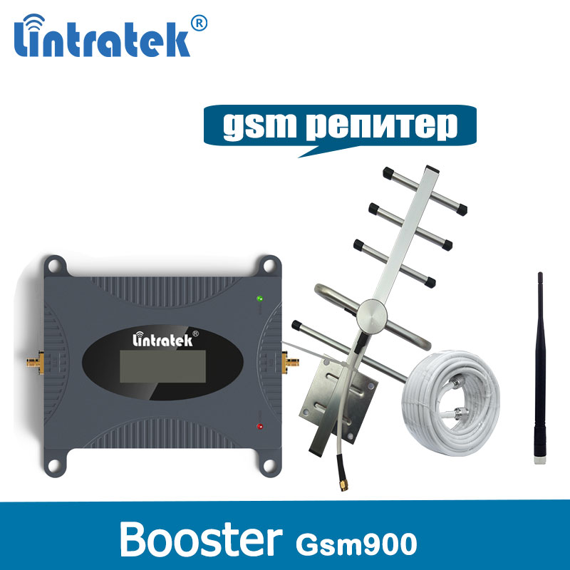 Lintratek GSM Repeater 900MHz Cellular signal Repeater Cell Mobile Phone GSM 900 Signal Booster Amplifier Antenna