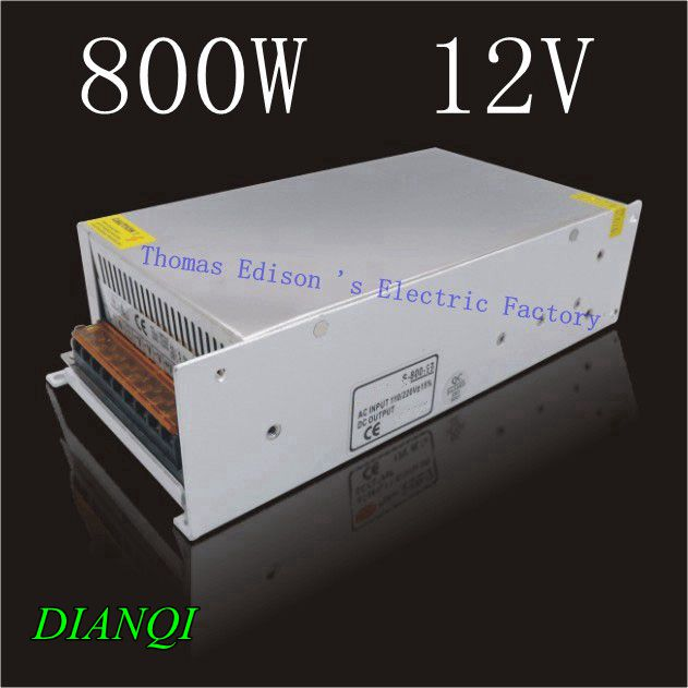 Switching Power Supply 800w 12v 66.5A  input AC110 or 220V For Strip Lamps voltage transformerSwitching Power Supply 800w 12v 66.5A  input AC110 or 220V For Strip Lamps voltage transformer