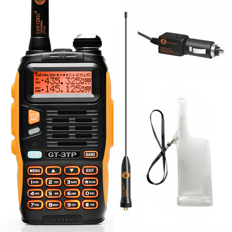 Baofeng GT-3TP MarkIII TP 1/4/8 Watt haute puissance double bande 136-174/400-520 MHz jambon bidirectionnel Radio talkie-walkie cas chargeur de voiture