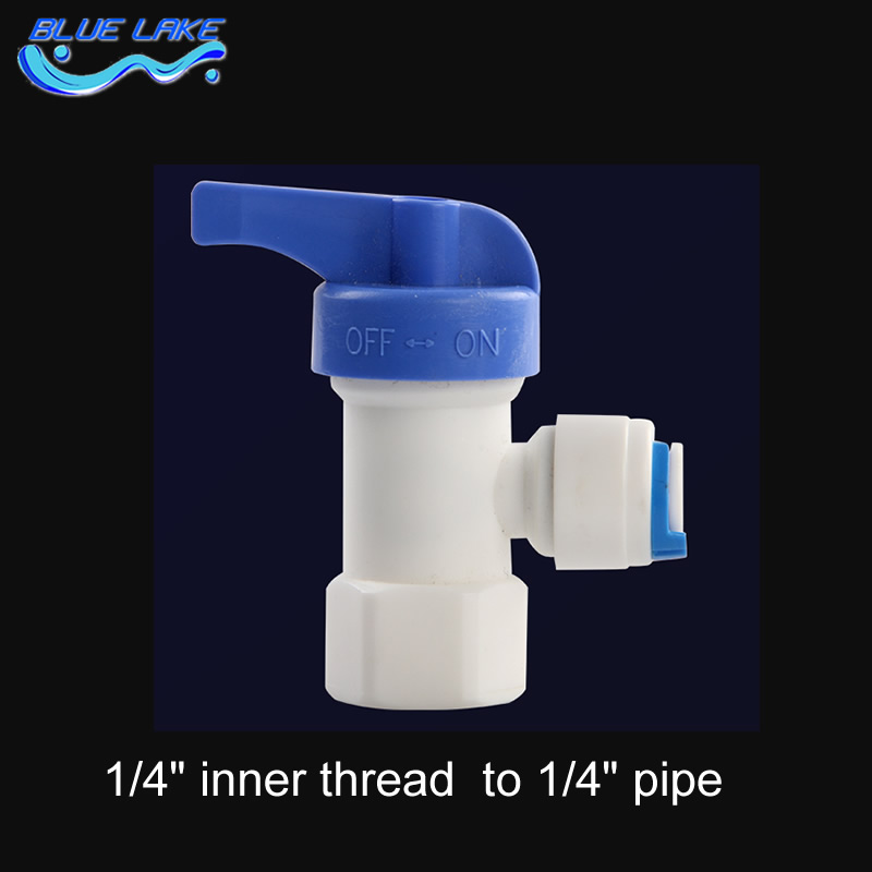 Water purifier Pressure/Storage bucket ball valve/switch/,1/4 inner thread  to 1/4 pipe,Water purifier accessories 1 2 thread to hose tail 1 4 air control ball valve zmm