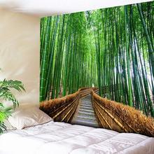 Bamboo Forest Tapestry 3D Print Nature Tree Indian Mandala Tapestry Wall Hanging Tapestries Boho Bedspread Wall Rug Big Blanket цена в Москве и Питере
