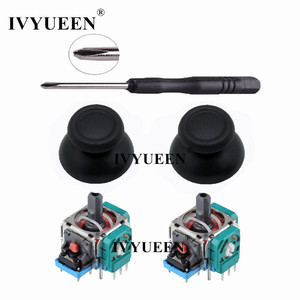 IVYUEEN 3D Analog Joystick Sensor Module Potentiometer & Thumb Stick for Sony PlayStation 4 PS4 Pro Slim Controller Repair Parts