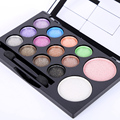 Waterproof Glitter Smoky Eye shadow Blush Makeup Palette Powder Set 14 Colors