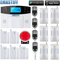 Wireless Wired Alarm Systems Security Home LCD Speaker Keyboard Sensor GSM Alarm System English Russian Spanish