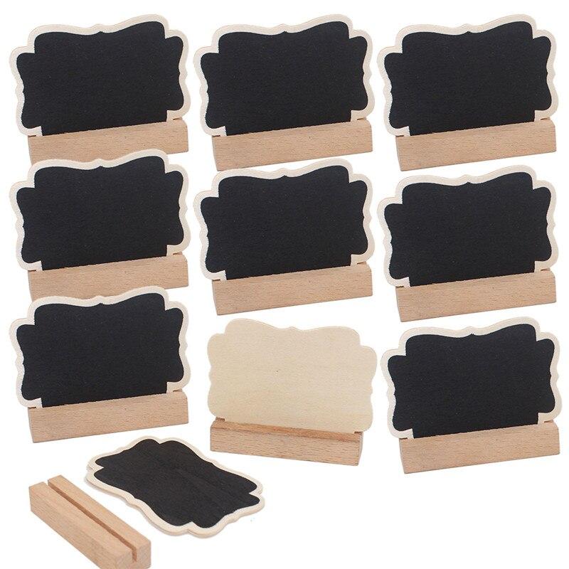 50pcs/Lot New Butterfly Wooden Blackboard With Card Slot Shape Wooden Blackboard Chalkboard For Wedding Party Office School