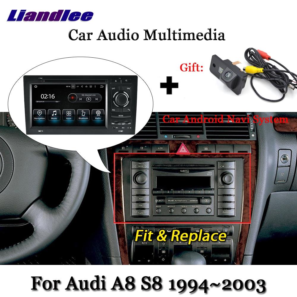 Discount Liandlee Car Android 7.1 up For Audi A8 S8 D2 4D 1994~2003 Radio DVD TV Carplay Camera GPS Navi Navigation BT Screen Multimedia 0
