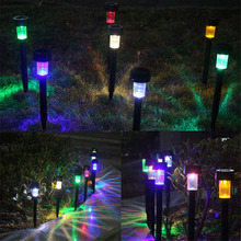 10pcs/Lot Solar Panel LED Spike Outdoor Plastic Spot Light Solar Landscape Garden Light Yard Path Lawn Solar Lamps white light