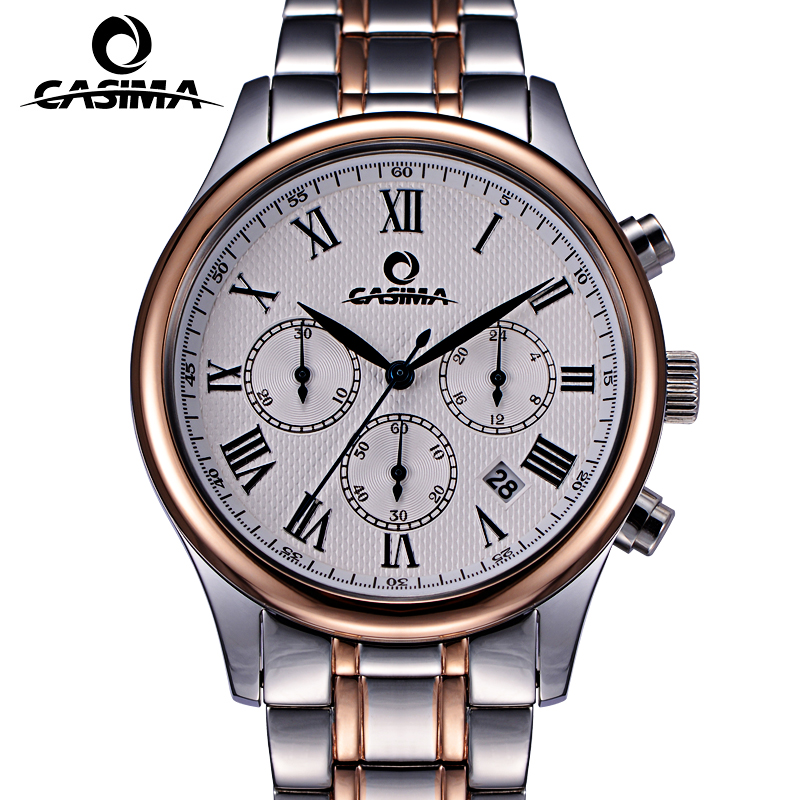 Luxury Brand CASIMA Business Men Watches Full Stainless Steel Waterproof Dress Men Quartz Watch relojes hombre Male Clock montre casima luxury brand sport quartz watches men reloj hombre fashion silicone band100m waterproof men watch montre homme clock